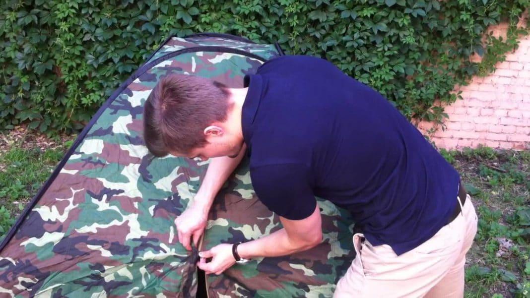 Как собрать походную палатку