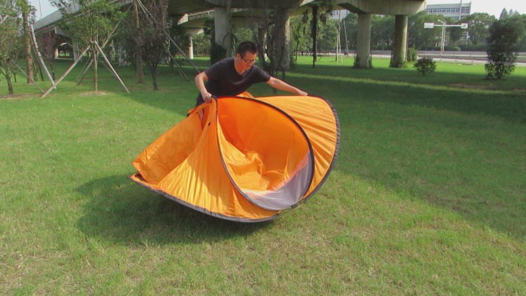 как собрать китайскую палатку восьмерку
