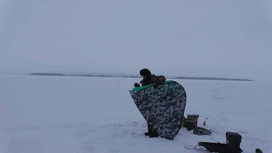 как собрать зимнюю палатку восьмеркой