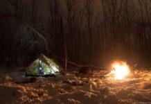 nochevka v zimnem lesu