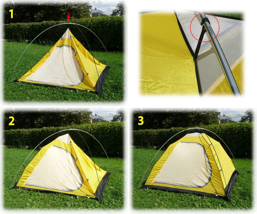 Как собрать палатку восьмеркой схема