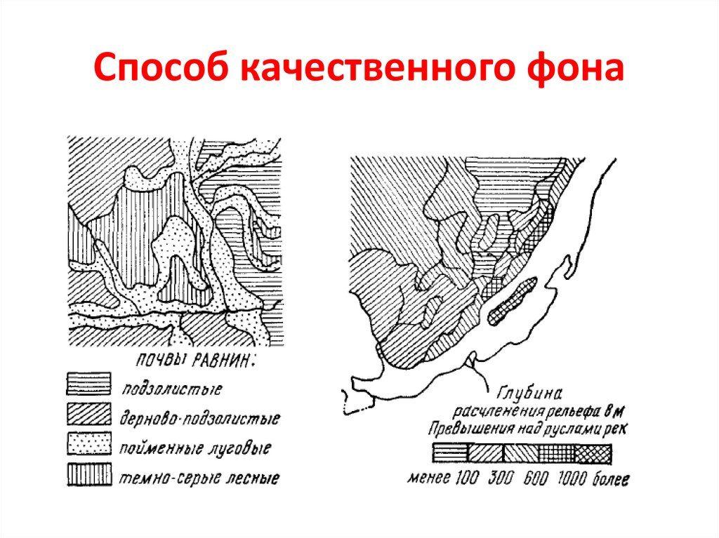 Способ качественного фона в картографии