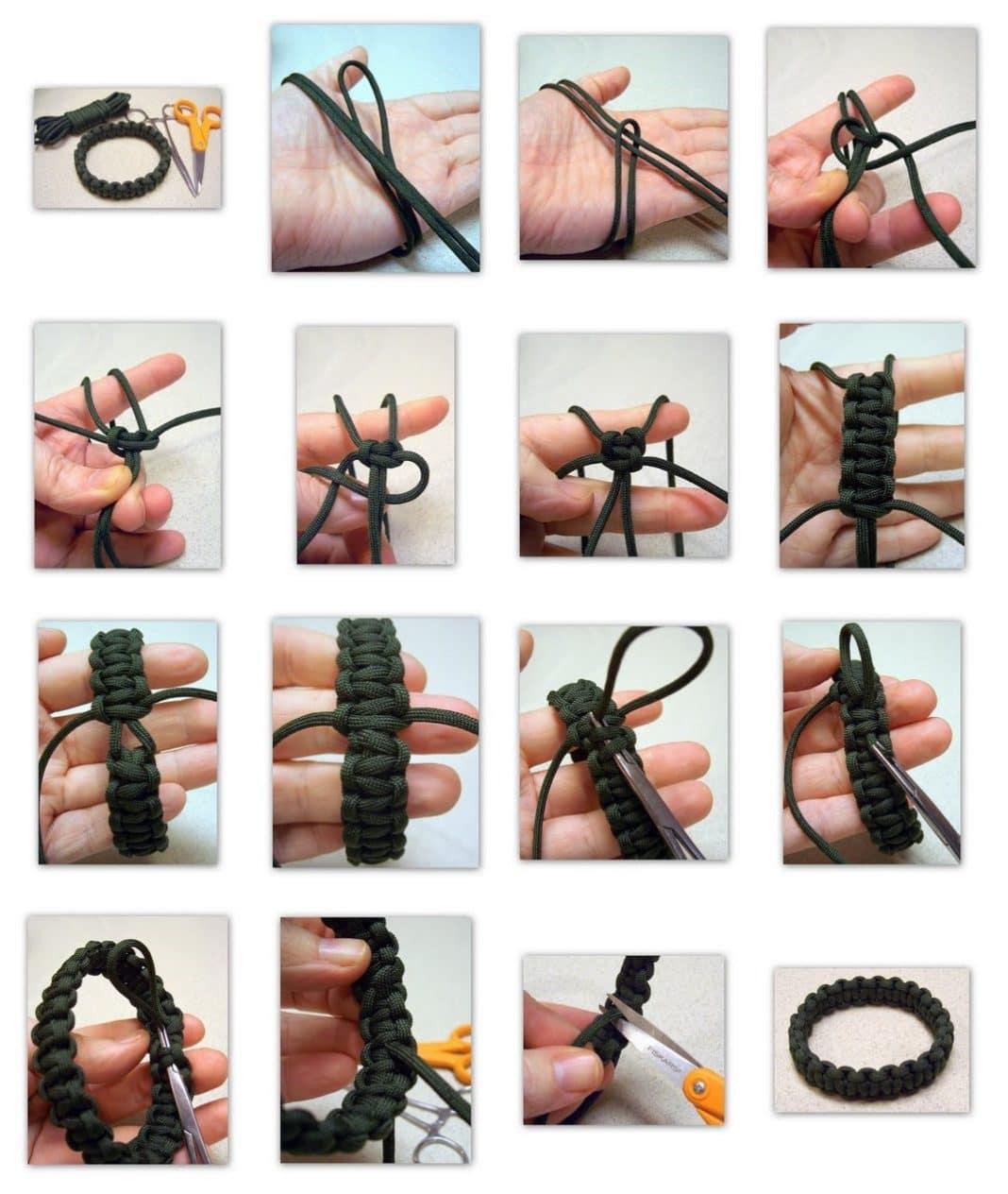 Как сделать браслет для выживания