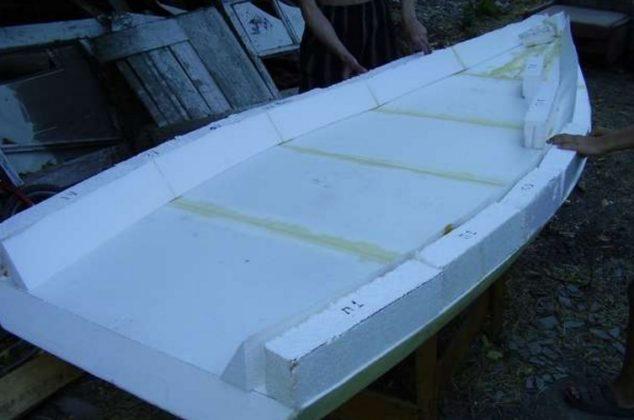 пенопласт постройка лодки