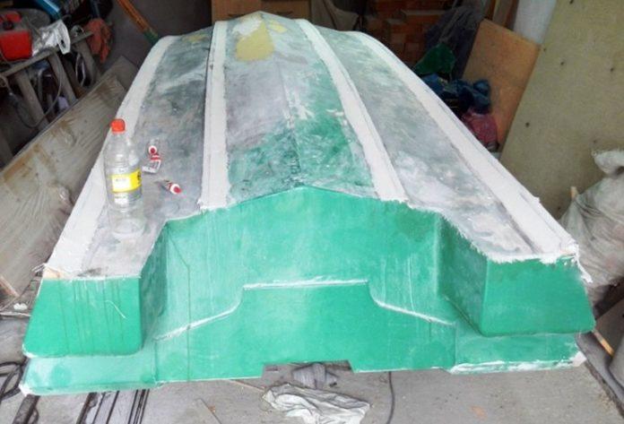 как сделать лодку с стеклотканью