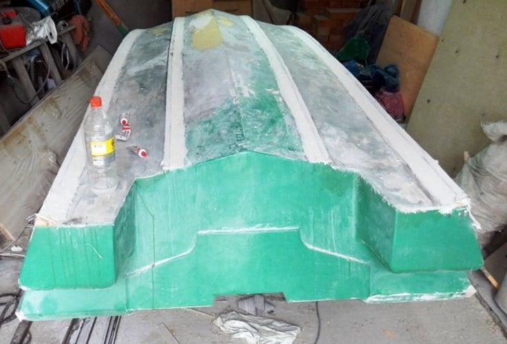 лодка из пенопласта и стеклоткани своими руками