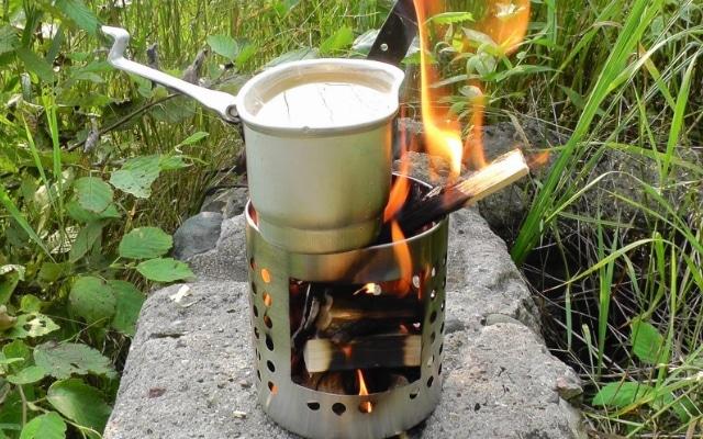 походная печь щепочница