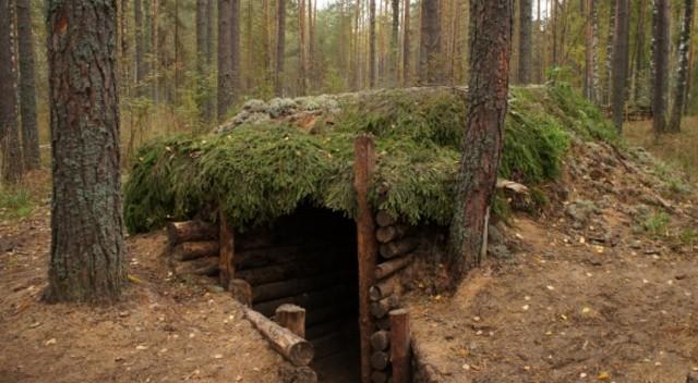 как построить землянку в лесу