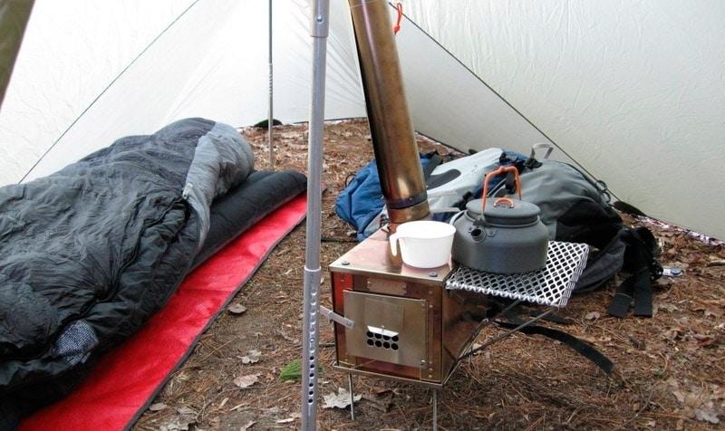 палатка с готовой печкой