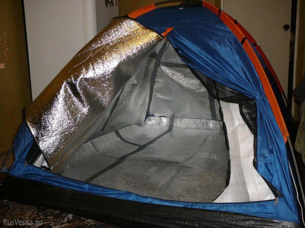 Утепление зимней палатки полиэтиленом
