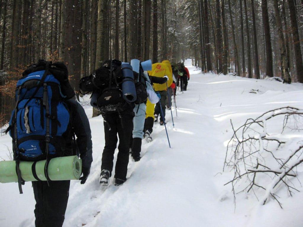 Пешие походы зимой