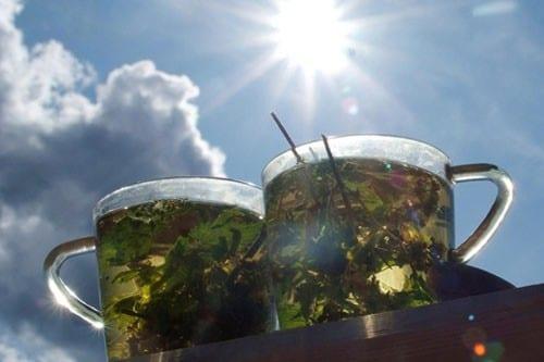 Чай с листьями малины