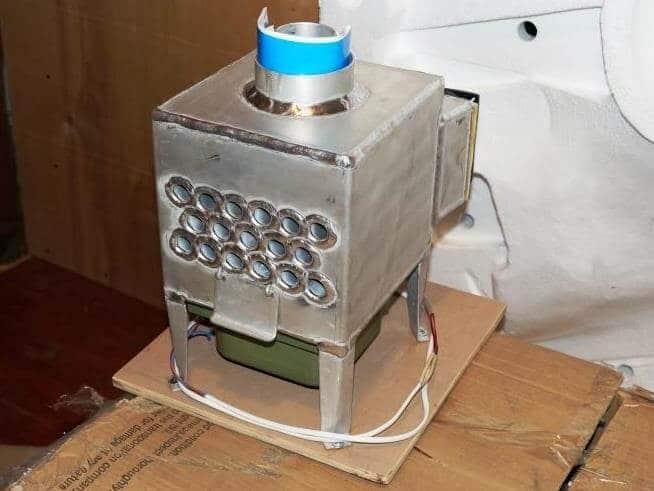 смонтированная печка