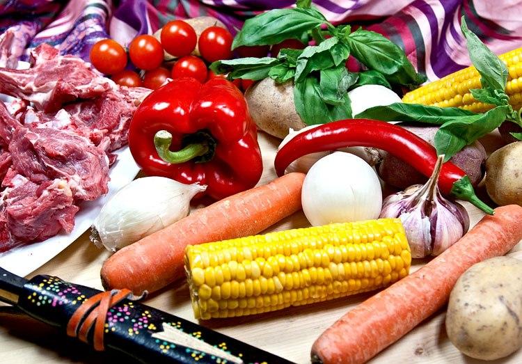Набор продуктов для приготовления шурпы